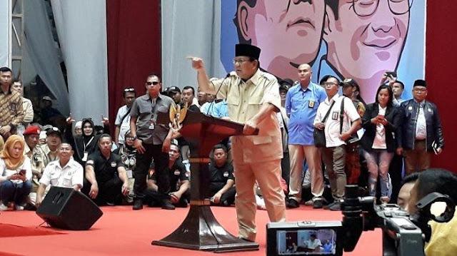 Prabowo ke Relawan: Tampang Lo Ya Tampang Enggak Punya Duit