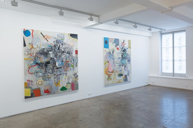 Installation view Thameur Mejri at Jack Bell Gallery