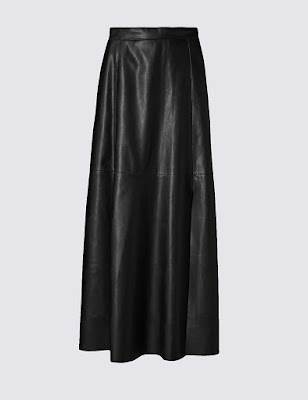Marks and Spencer Limited Collection Faux Leather a line midi skirt