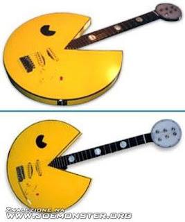 cosas motivo de pac-man guitarra
