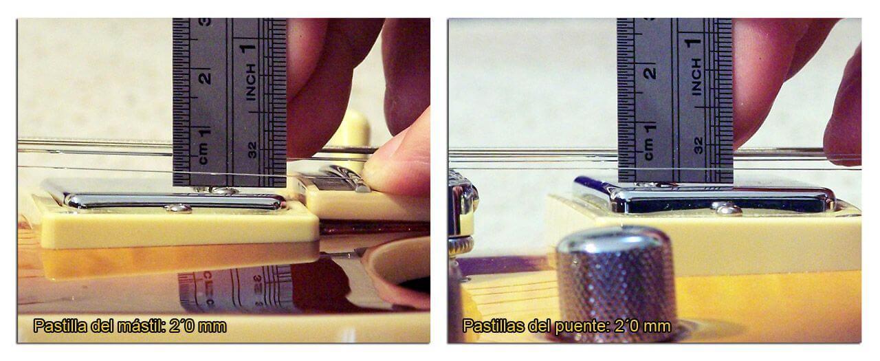 Medidas de la Altura de las Pastillas Humbucker en la Cuerda Fina