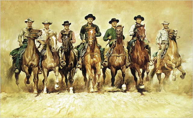 photo of Magnificent Seven 1960's western film