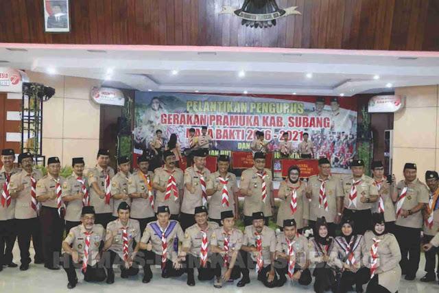 Pelantikan Pengurus Kwarcab Gerakan Pramuka Kabupaten Subang Masa Bakti 2016-2021