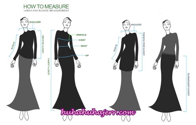 Cara Ukur Badan Dengan Betul Untuk Pembelian Pakaian Secara Online
