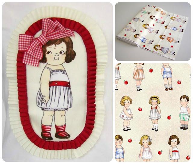 Detalles muñecas Paper Dolls de Newcastle Fabrics