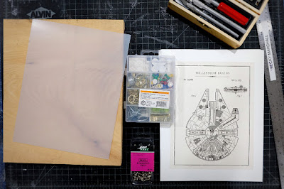 star wars printables wood acrylic sheet millennium falcon
