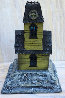Haunted Holtzville #3 back view of the Village Manor from Tim Holtz
