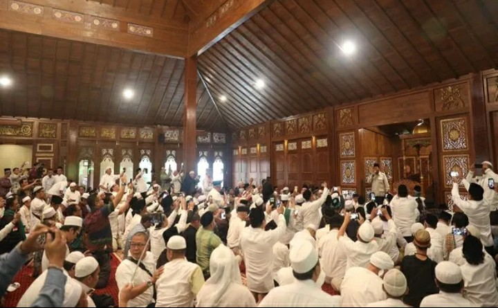 Prabowo dan Ulama Resmikan Masjid di Hambalang
