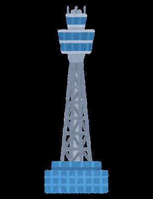 横浜マリンタワーのイラスト