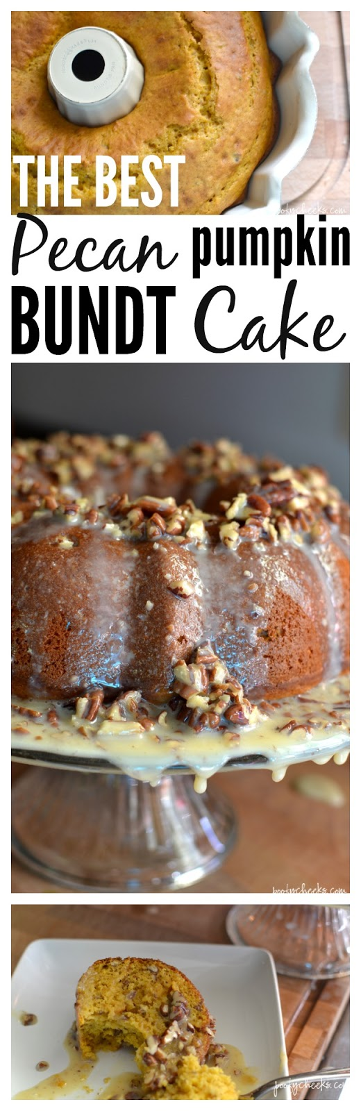 Our family LOVES this cake and we enjoy it every Fall! THE BEST pecan pumpkin bundt cake.