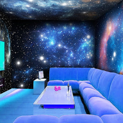 glow in the dark wallpaper glowing wall murals for living rooms