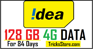 new Idea Unlimited Data Plan - Free 128 GB Data + Unlimited Calling For 84 Days