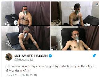 Διαψεύδει η Τουρκία χρήση χημικών στο Αφρίν