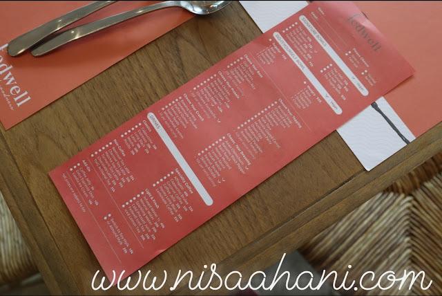 Fedwell menu
