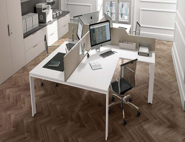 best white modern office furniture images