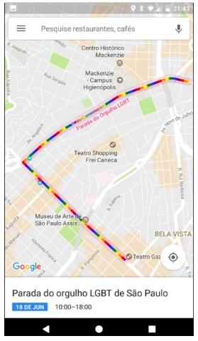 📷 Arco-íris destacando o trajeto | Google Blog