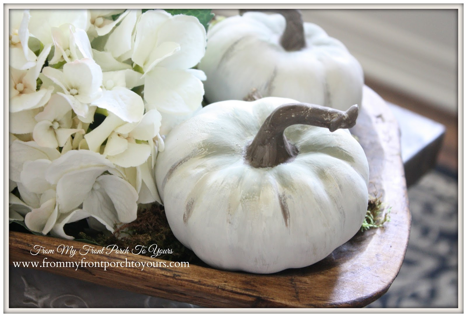 Chalk Painted Pumpkins-Tutorial-Fall Decorating-From My Front Porch To Yours