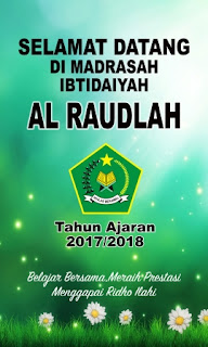 upacara pembukaan tahun  ajaran baru MI Al Raudlah