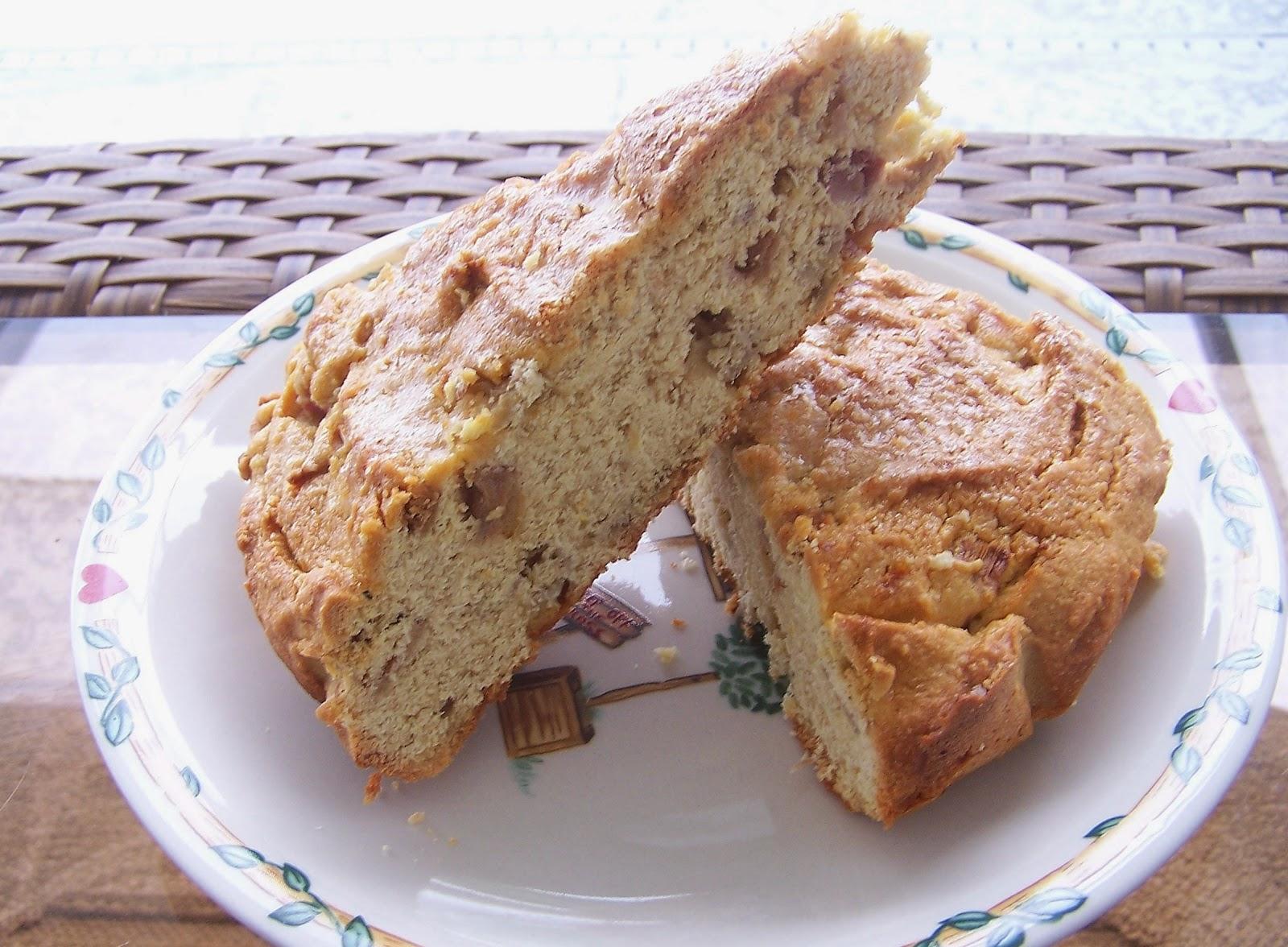 Skinny Ginger Rhubarb Cake, gluten free, grain free