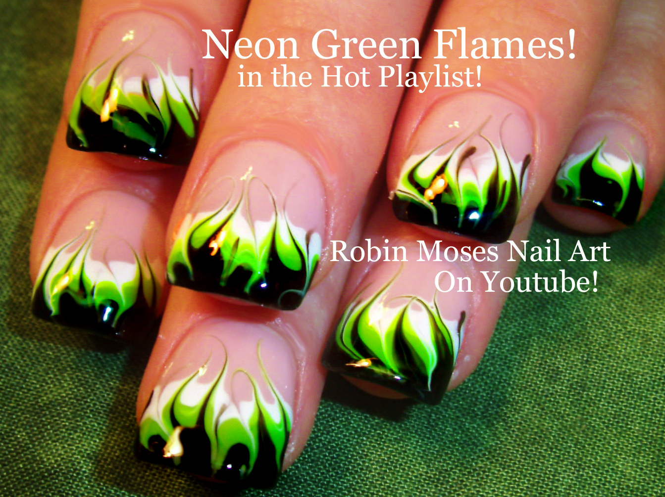 Nail Art By Robin Moses Essie Neons Will Glow Your Mind No Water