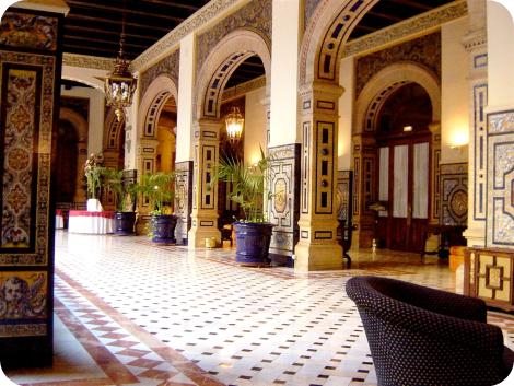 Interior del hotel Alfonso XIII, Sevilla