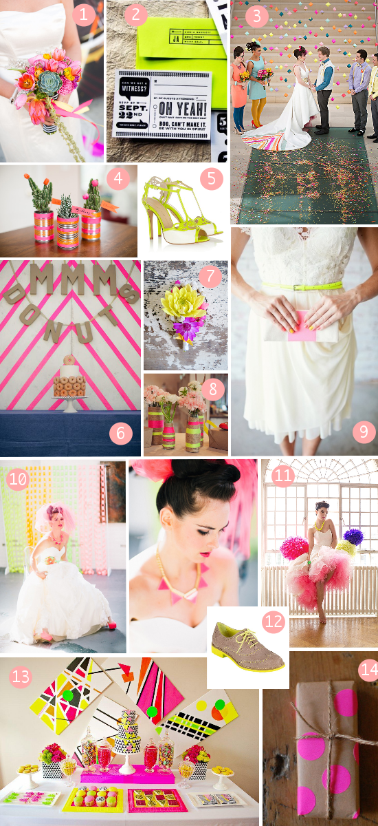matrimonio fluo, neon wedding