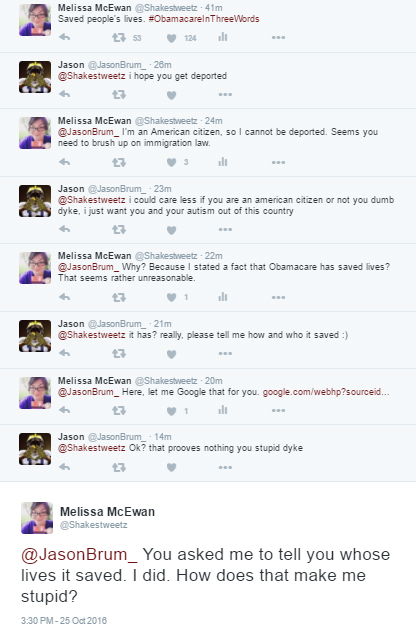 screen cap of Twitter exchange