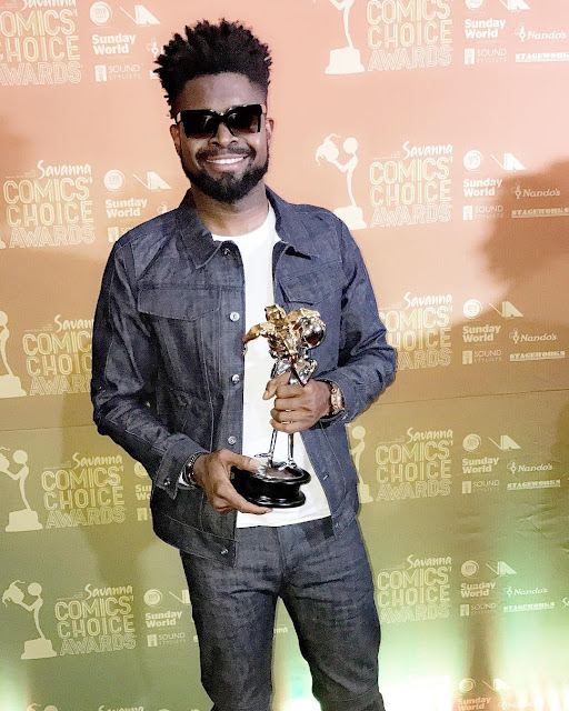 wp 1505078639370 - ENTERTAINMENT: Basketmouth Is Pan African's Comic of The Year Award Winner