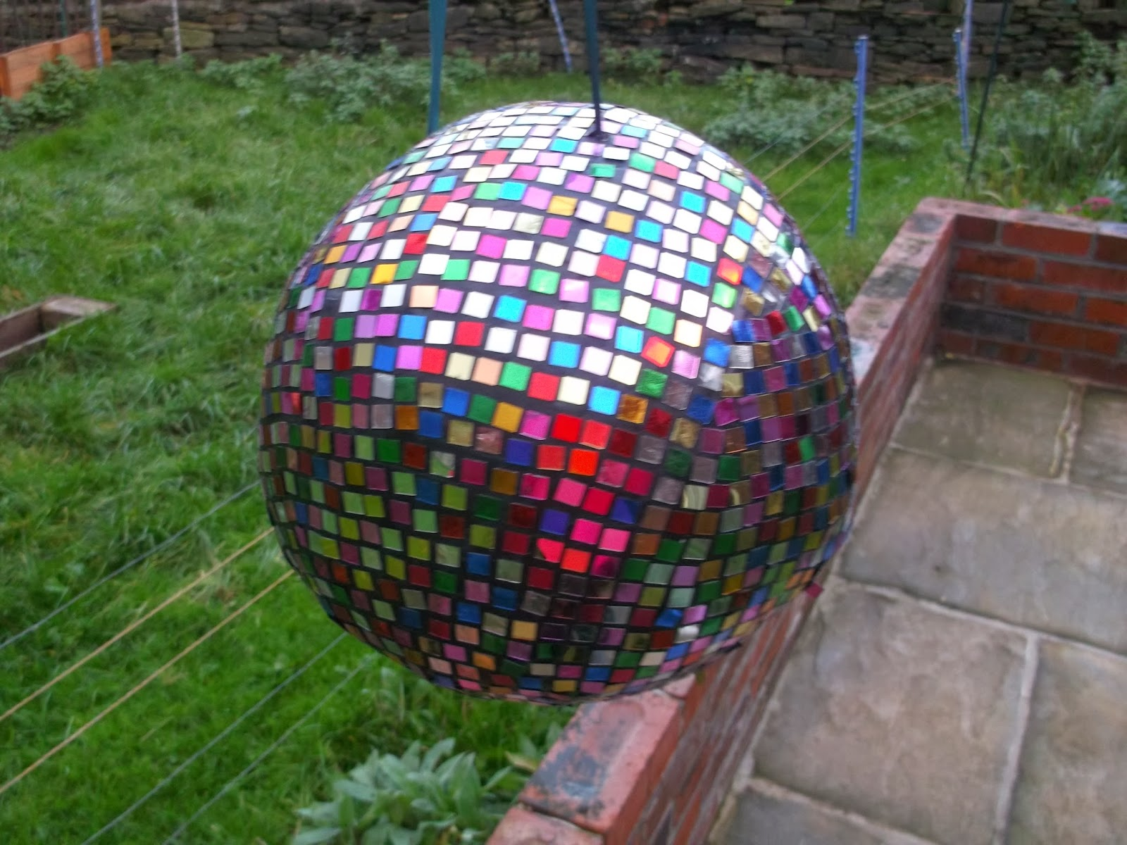 The pinata lady: custom made pinatas: Mirror ball pinata