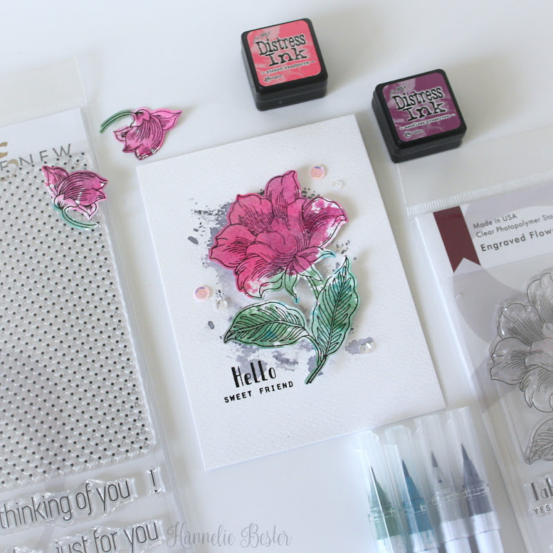 Altenew Engraved Flower stamp set