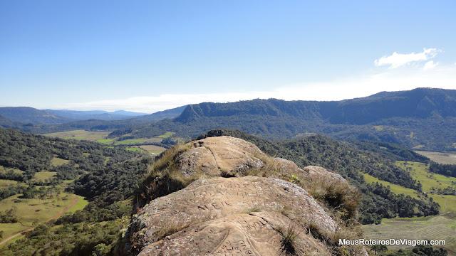 Vista do alto do Morro do Campestre - Urubici/SC