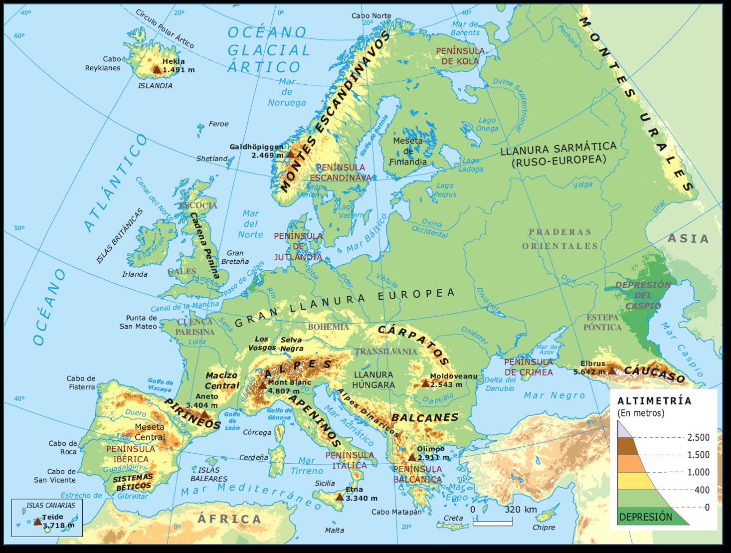 Mapa Mudo Europa Físico.Mapa Mudo De Lagos De Europa