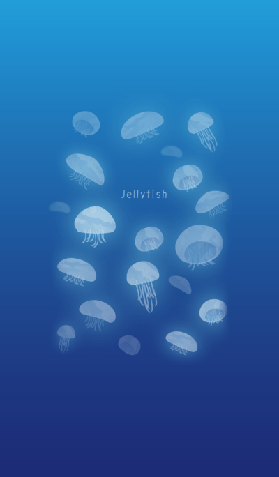A cool relaxing jellyfish
