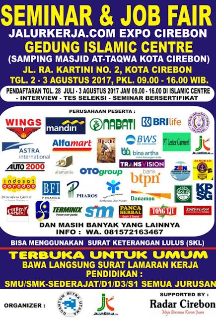 Hadir Job Fair di Cirebon Pada 2 dan 3 Agustus 2017