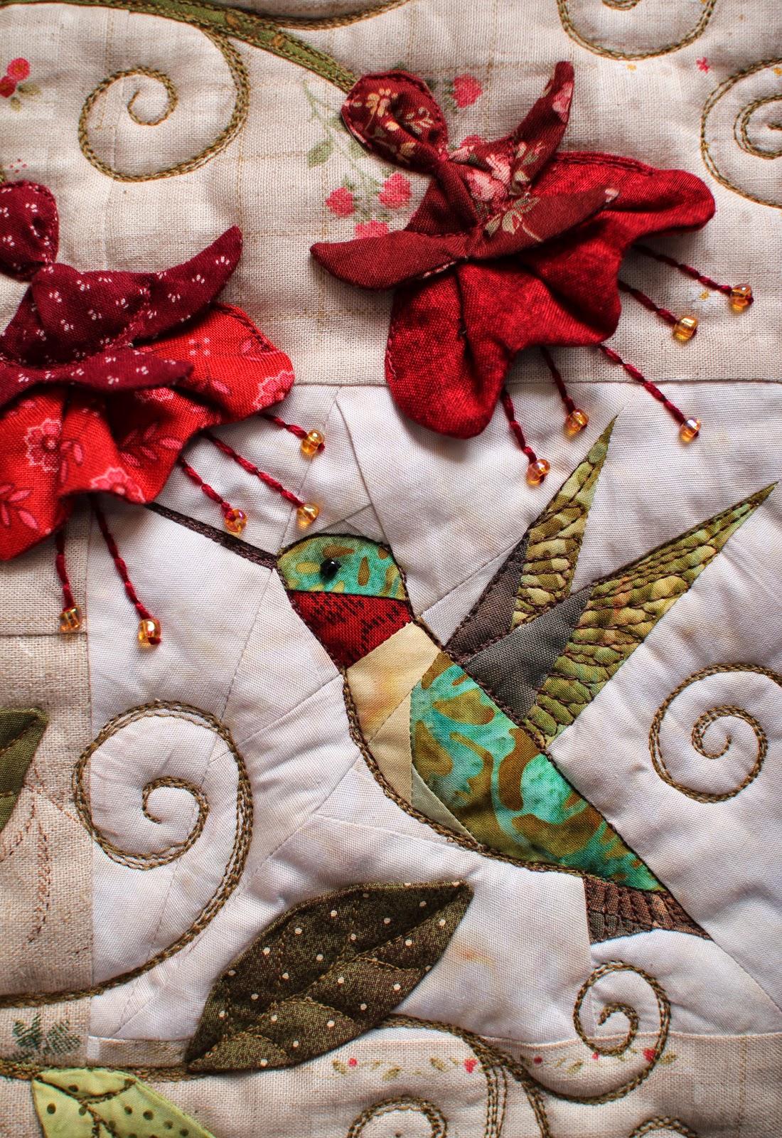 patchworkpottery  hummingbird pillow