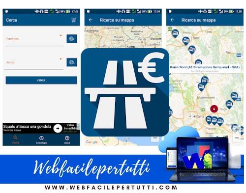 Pedaggio Autostradale | Applicazione che consente di calcolare il costo dei viaggi in autostrada