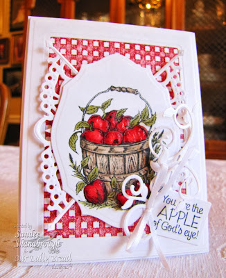 Our Daily Bread Designs, Apples, Decorative Corners Die, Fancy Foliage Dies, Sandee Shanaborough