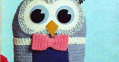 Graduation Owl Free Vintage Crochet Pattern