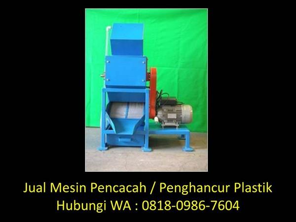 jurnal mesin pencacah botol plastik di bandung