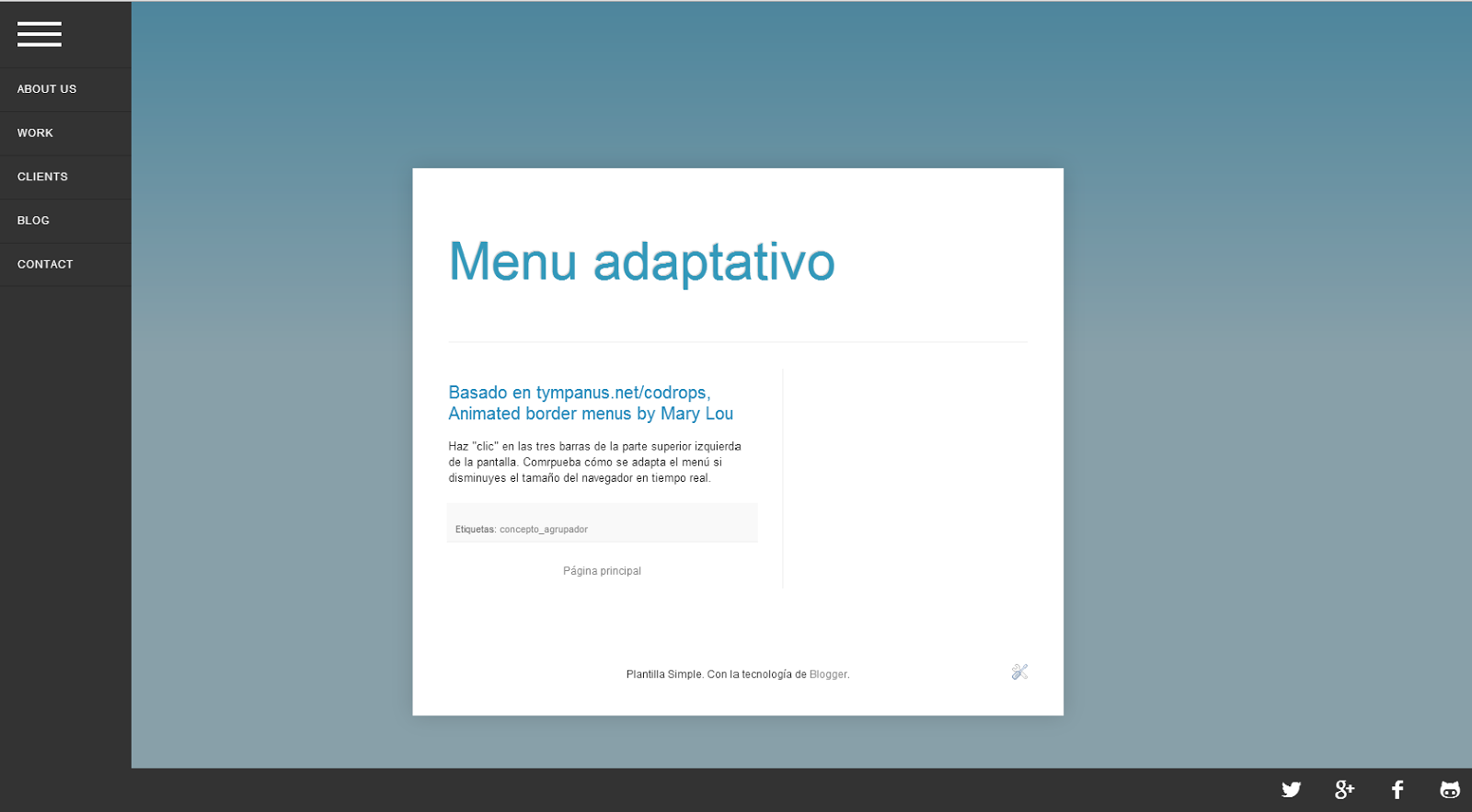 Menu adaptativo Blogger