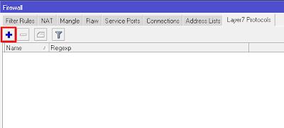 Gambar menu layer7 protocol di mikrotik