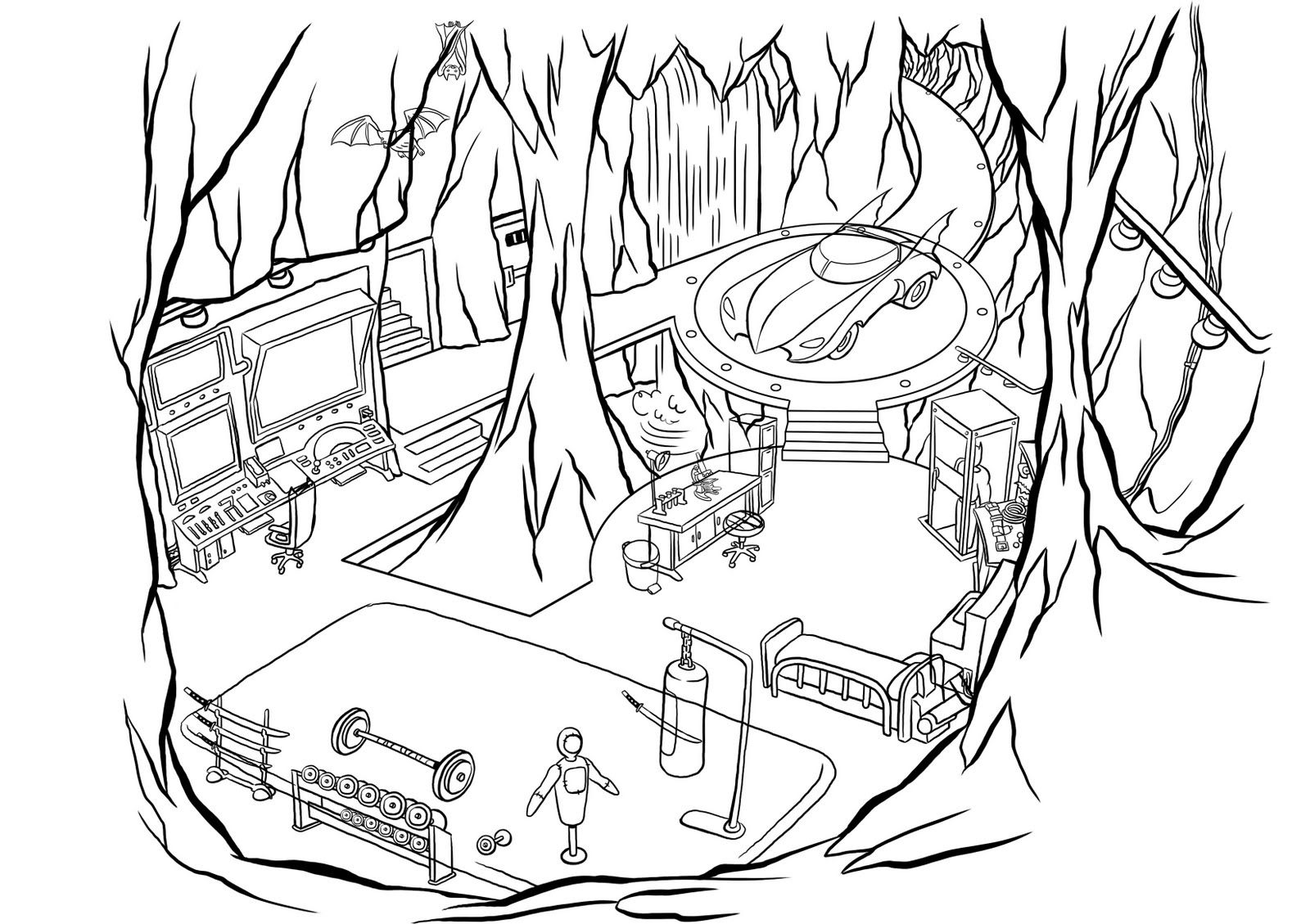 Cave Coloring Pages