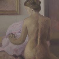 Cristina alonso pintura figurativa desnudo