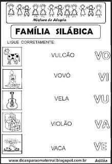 Famílias silábicas alfabetização letra V