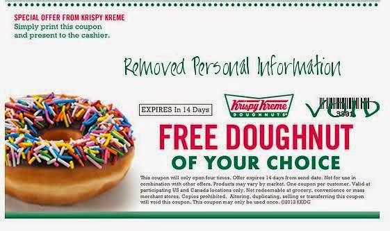 picture relating to Krispy Kreme Printable Coupons known as Coupon krispy kreme : Tj maxx coupon code 2018