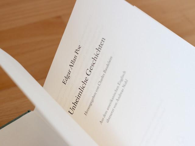 Neuübersetzung Poe Unheimliche Geschichten Andreas Nohl dtv Verlag