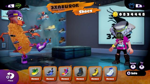 Shrimp Kicks Crusty Sean Splatoon Booyah Base Inkopolis shoe store Moto Boots