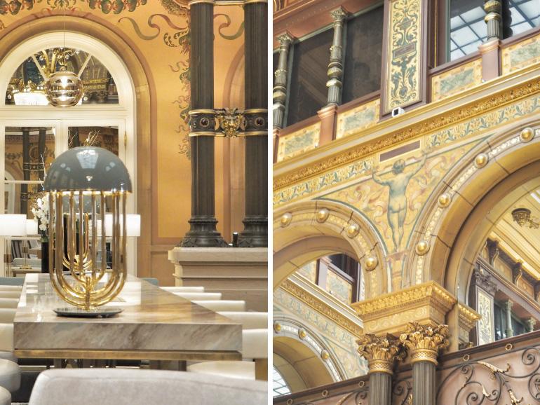 Décoration Art déco dans le Grand Salon de l'hôtel Hilton Paris Opéra