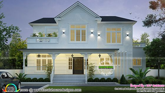 Roman Style Home Plan Kerala Home Design And Floor Plans