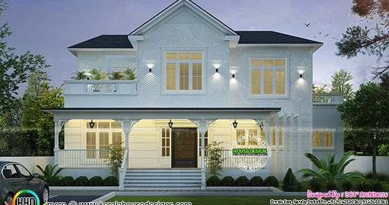 Roman style home plan kerala home design and floor plans for Roman style home design
